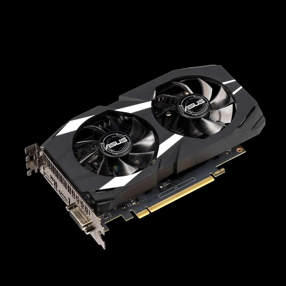 Videókártya ASUS GeForce GTX 1650 4GB GDDR5 Dual OC (90YV0CV2-M0NA00)