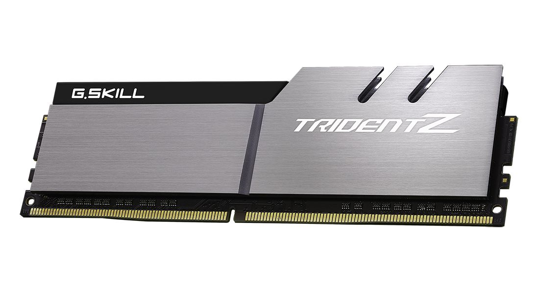 G.SKILL 16GB DDR4 3200Mhz Kit(2x8GB) Trident Z Silver/Black (F4-3200C14D-16GTZSK)