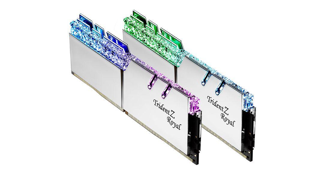 G.SKILL 32GB DDR4 4600MHz Kit(2x16GB) Trident Z Royal Silver (F4-4600C19D-32GTRS)