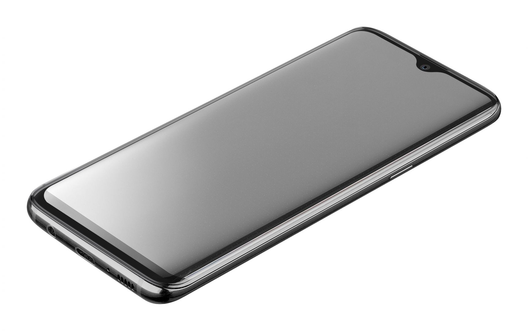 Cellularline Protective tempered glass for full screen CAPSULE for Huawei P30 Pro, black (TEMPGCUP30PROK)