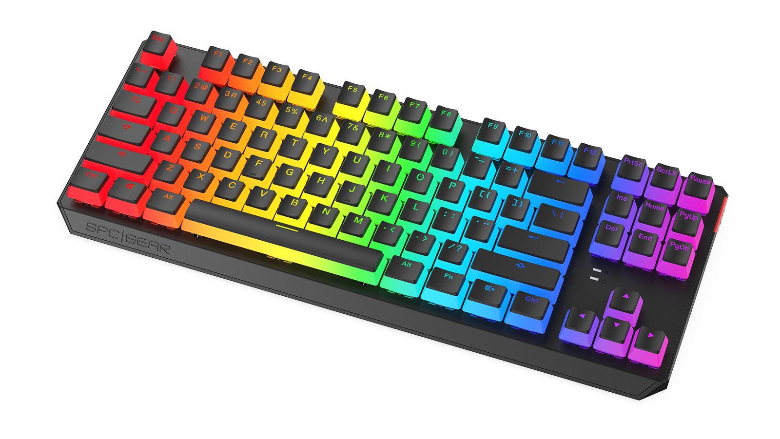 SPC Gear GK630 Pudding Tournament Kailh Brown RGB keyboard Black ENG (SPG075)